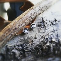 Small silver stud by wocky metals