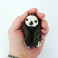 Tiny Baby Crochet Sloth Keyring