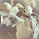 Snowberry Mouse READY MADE decoration