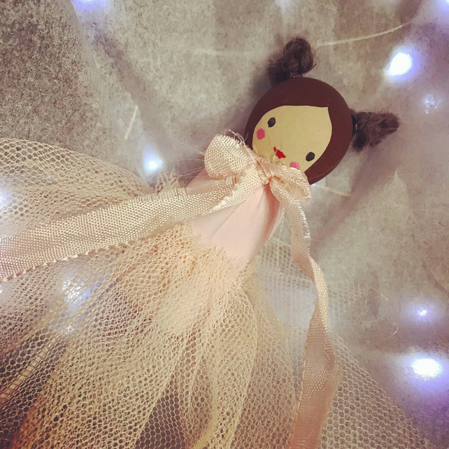 Wooden Winter Princess Decoration