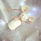 Wooden Christmas Decoration - Snow Mouse