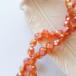 Blood Orange Faceted Glass Flat Round 8mm Beads