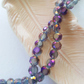 Pearlescent Purple Faceted Glass Flat Round 8mm Beads