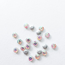 20 x 8mm AB coated Crystal Glass Marguerite Flower Beads Sew On Flower