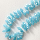 Opaque Blue Glass Briolette Beads 6x12mm Full Strand Of 98 beads