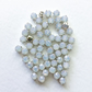 50 x 5mm White Opal Glass Sew On Rhinestones Montees Chatons in Silver