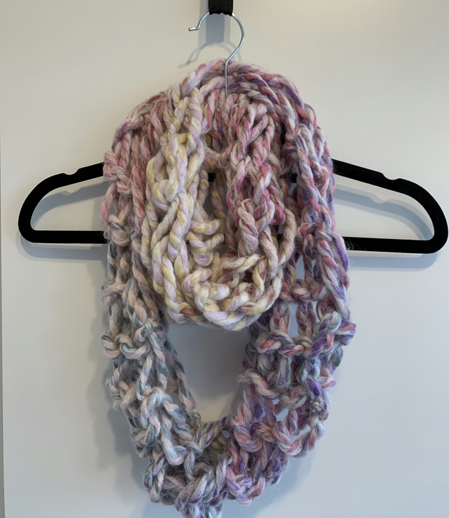Arm Knitted Infinity Scarf