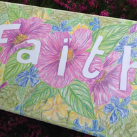 Faith Canvas - inspirational art