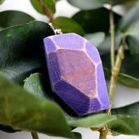 Pruple Pine Facet Necklace