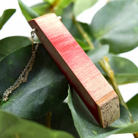 Red Holly Wooden Pendant