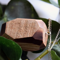 Cherry Wooden Facet Necklace