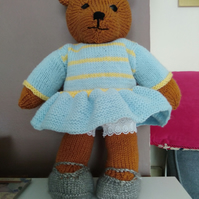 Hand knitted soft toys