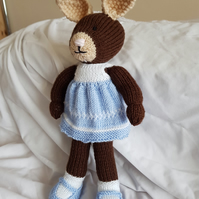 Hand crafted soft toy rabbit