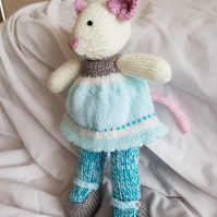 Hand crafted soft toy mouse