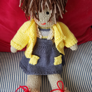 Hanf knitted soft doll