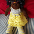 Hand crafted  knitted soft doll