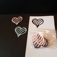 Love heart die cuts