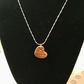 "Little Thatch Heart hand crafted copper pendant on 18"" 925 sterling silver chain"