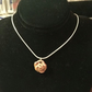 "Mini Rose Pendant Solid Copper Hancrafted & Sterling Silver ""16 chain"