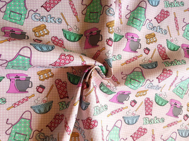 Organic Cotton Just Bake printed Fabric