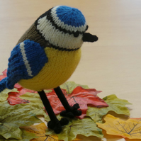 Blue Tit Hand Knitted Collectable Garden Bird Decoration