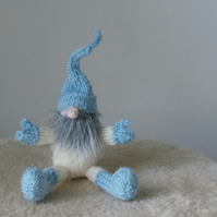 Mini Tomte Scandinavian Yuletide Gnome Hand Knitted Gift or Christmas Decoration