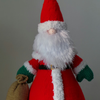 Santa Claus Tall Hand Knitted Collectable Christmas Decoration or Gift