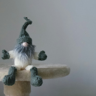 Hand Knitted Mini Tomte Scandinavian Yuletide Gnome Gift or Christmas Decoration