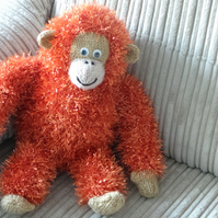 Rusty the Orangutan Hand Knitted Collectable 23cm tall