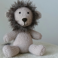 Little Lion Hand Knitted Christmas, Birthday or Baby Shower Gift