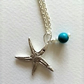 Starfish bead silver clay necklace