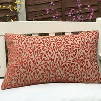 Orange Berry zipped pillow cover