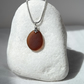 Rich brown sea glass necklace