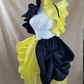 Witch Wizard Yellow Black House Colours Knee Length Tie On Bustle Skirt