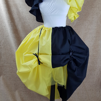 Witch Wizard Yellow Black House Colours Full Length Bustle Skirt-One Size