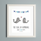 Seal Couple Personalised Print