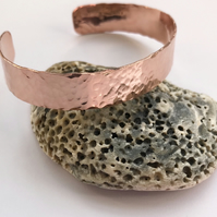 Copper cuff bracelet, hammered rustic copper cuff bracelet
