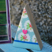 Handmade Wood Triangle Ornament