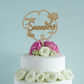 Rustic personalised Mr and Mrs floral wedding cake topper L156