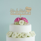 Personalised Mr and Mrs wedding cake topper with love heart and date L115