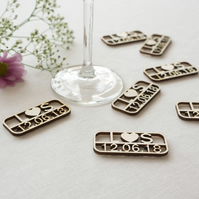 Personalised wedding table confetti add your initials and wedding date L80