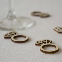 Diamond ring table confetti. Engagement hen party table decoration L71
