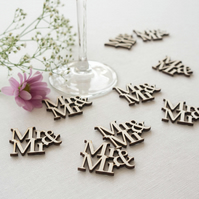 Gay 'Mr and Mr' table confetti. Wedding civil partnership decorations L72