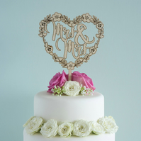 Gay lesbian Mrs and Mrs civil partnership wedding cake topper L159