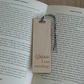 "Funny bookmark. Engraved wooden bookmark with ""Shh I'm reading"" line L195"