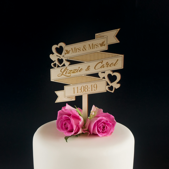 *PRICE PER LETTER* Personalised Name Wire Cake Topper Wedding Birthday Names