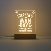 Custom man cave LED sign. Light up LED lamp. Personalise novelty sign D2