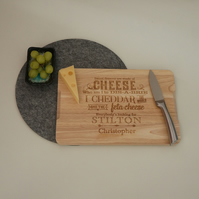 Funny cheese board. Personalise cheese chopping board for cheese lovers. L336