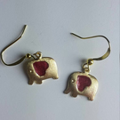 Heartfelt elephant earrings