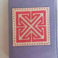 A6 Notebook with Reusable Cover with Celtic design